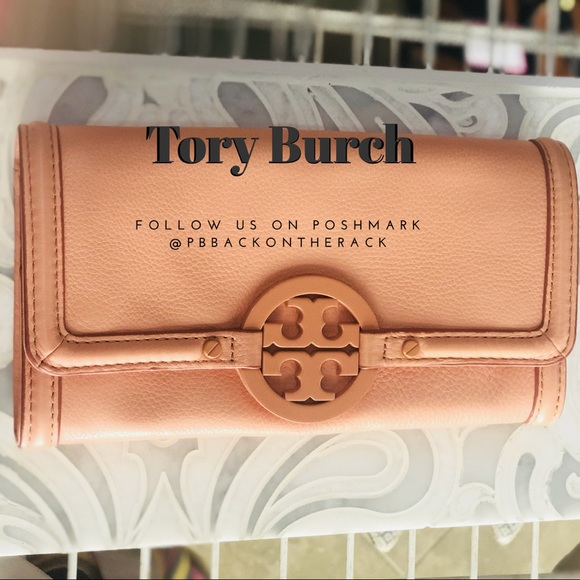 Tory Burch Handbags - TORY BURCH PEACH WALLET